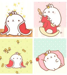 Molang imagines he's royalty.