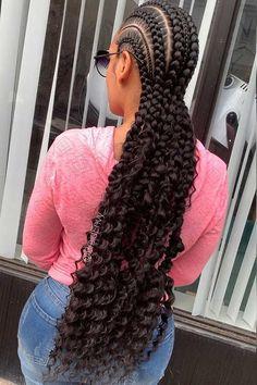 Baddie Hairstyles Long Bohemian Feed in Braids.Baddie Hairstyles Long Bohemian Feed in Braids Feed In Braids Hairstyles, Braids Hairstyles Pictures, Braided Ponytail Hairstyles, Braided Hairstyles For Black Women, Cool Hairstyles, Hairstyles Videos, Bandana Hairstyles, Baddie Hairstyles, Formal Hairstyles
