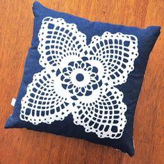 Doily Pillow -  flower * press