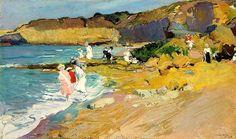 Rocks and the Lighthouse, Biarritz, 1906 Joaquín Sorolla