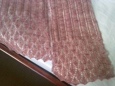 Summer Night - A gorgeous cashmere scarf knitted for my fiance's step-mum on her birthday.