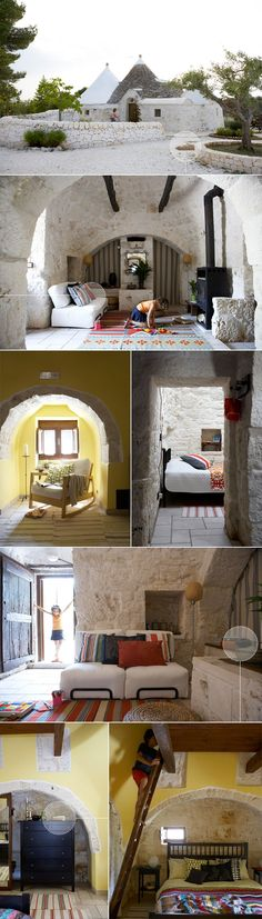 a trullo.i have wanted to see and stay in one of these for years. Must go to