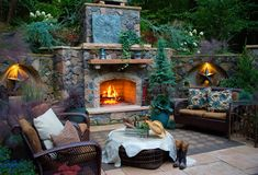 Outside Fireplace Idea | Fire Place and Pits