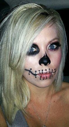 Halloween Skeleton face paint
