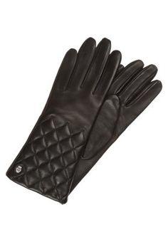 SKYLINE - Fingerhandschuh - black Gloves, Skyline, Leather, Black, Outfit, Fashion, Outfits, Moda, Black People
