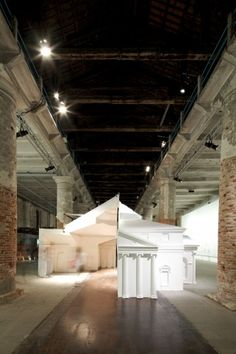 Museum of Copying, curated by British architect's FAT, exhibition at the Venice Biennale. The subject of copy in architecture has always interested me, in relation to how the series of copies in the form of iterations are what make architecture evolve. The concept is explored in this exhibit with three installations, starting with Villa Rotunda Redux, the iconic Palladio building copied (or reinterpreted?) through history now digitally fabricated.