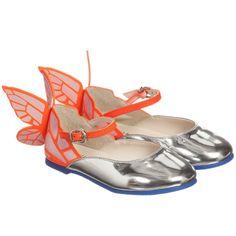 5f695eebb065 Girls Silver Leather  Chiara  Butterfly Shoes. Sophia Webster ...