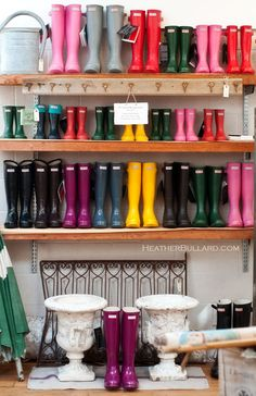 wall of Wellies