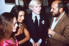 Elio Fiorucci & Andy Warhol, Los Angeles 1978