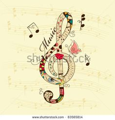 Find Vector Musical Background Treble Clef stock images in HD and millions of other royalty-free stock photos, illustrations and vectors in the Shutterstock collection. Thousands of new, high-quality pictures added every day. Find Music, Music Is Life, Music Symbols, Music Tattoos, Tatoos, Instruments, Music Decor, Music Images, Treble Clef