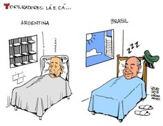 Ditadores no Brasil e na Argentina...