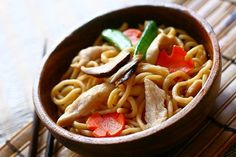 Chicken Lo Mein: A personal house special Lo Mein can be as easy and flexible as you want it to be. Simply put, use fresh noodles, or spaghetti, your choice of protein, or seafood and vegetables, a light sauce, smoky hot wok, and there you go – a healthy yet delicious home-cooked Lo Mein.  #noodle #chicken #hongkong