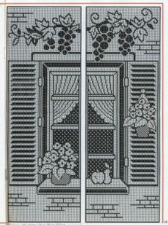 World crochet: Curtain 62 Crochet Anchor, Crochet Deer, Crochet Buttons, Crochet Home, Thread Crochet, Crochet Doilies, Free Crochet, Crochet Curtain Pattern, Crochet Curtains