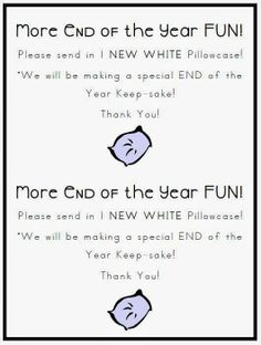 This is such a super simple way to make a memorable keepsake that students will enjoy all summer long! I send out a simple request for clean white pillowcases. They come in sets of 2 so my families often split a pack.  (Old white pillowcases work too!)