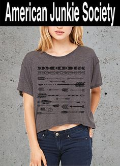 Arrows Crop top Popular Bestfriend Gift Crop Top Boho T-shirt Arrow Shirts Womens Scoopneck'__(Native American Clothing)Instagram Like by AmericanJunkieSoc on Etsy https://www.etsy.com/listing/245851864/arrows-crop-top-popular-bestfriend-gift