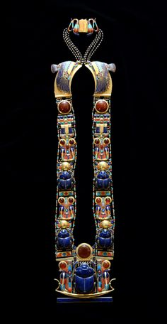 Scarab Pectoral Necklace of Tutankhamun, Egypt