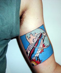 i love tattoos as homage to artists.