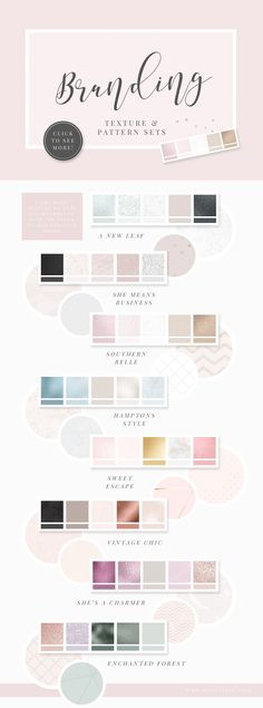 Branding texture and pattern sets. Find the perfect color palette for your brand and add texture for that extra special look. Web Design, Logo Design, Website Design, Identity Design, Website Ideas, Brand Design, Design Ideas, Brand Identity, Photoshop