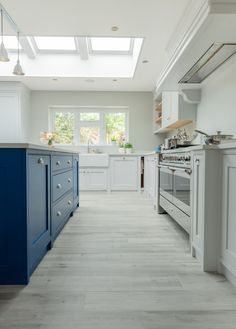 This kitchen has been custom made for a couple taking on the challenge of a kitchen extension & full house renovation at their home in Surrey. Stone Bathroom, Handmade Kitchens, Bespoke Kitchens, Full House, Beautiful Kitchens, Surrey, Shelving, Bathroom Ideas, Color Pop
