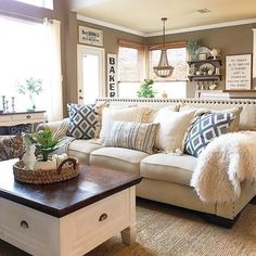 Relax with throw pillows in your living room