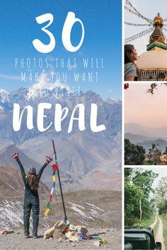 Home to dramatic peaks, roaring rivers, animal rich lowlands and the friendliest people on the planet.   These 30 photos of Nepal will make you want to visit.  Kathmandu Chitwan National Park Kathmandu Durbar Square Annapurna Circuit Pokhara Mt. Everest | Nepal photo guide | Things to see in Nepal | Beautiful Nepal | Best of Nepal | photography in Nepal | Best photos of Nepal