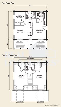 The Hartland Log Home Floor Plan | Dream Home | Pinterest | Logs ...