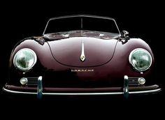 Porsche 356 B cabriolet in maroon Porsche Classic, Classic Sports Cars, Classic Cars, Vintage Porsche, Vintage Cars, Shelby Mustang, Bmw Sedan, Bmw R100 Scrambler, Dream Cars