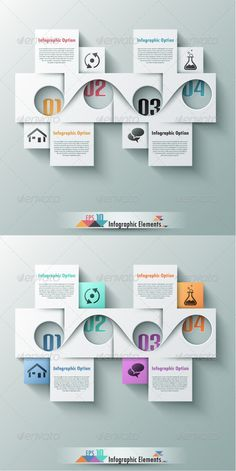 Modern Infographic Options Banner (Two Versions) Template #infografik Download: http://graphicriver.net/item/modern-infographic-options-banner-two-versions/7449044?ref=ksioks