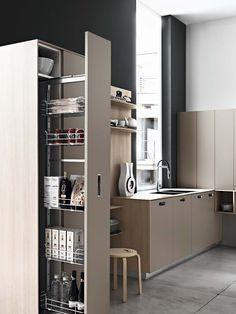 ¿Te gusta esta #cocina? Las puertas pueden ser de madera, lacadas o de polilaminado, todas ellas con el tirador incrustado ;)