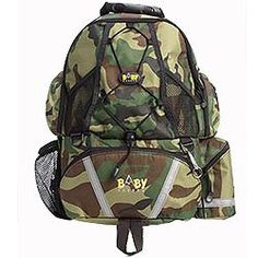 Backpack Diaper Bag In Camo by Sherpa Baby.