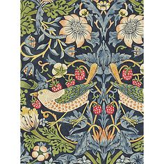 Buy Morris & Co Strawberry Thief Wallpaper Online at johnlewis.com