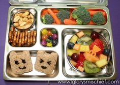 Happy Fruit Salad School Lunch