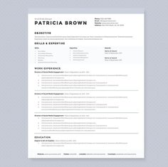 Resume Template  Belgravia By Cv And Resume Templates On