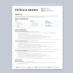 Clean Resume Template Pkg. by JannaLynnCreative on @creativemarket