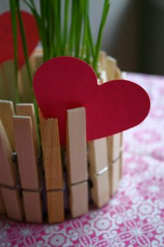 DIY candle holders/ flower pots  with clothespins