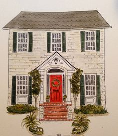 Custom Watercolor House Portraits by BlueHousePaperie on Etsy