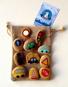 Kamienne opowiastki by Unicatella  Story Stones   Kamienie ręcznie malowane, kamienne gry i zabawy