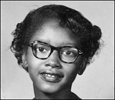 Before Rosa Parks, Claudette Colvin refused to give up her seat for a white passenger on the bus. She was never publicized like Rosa Parks though, because she was an unwed mother. Rosa Parks, Civil Rights Leaders, Civil Rights Movement, Audre Lorde, Claudette Colvin, African American Leaders, African Americans, American Children, Native American