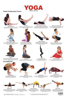 Yoga Chart 5 (Twists Abdominal Toners) - Click Image to Close/challenging poses to aspire to do Yoga Bewegungen, Yoga Moves, Yoga Flow, Yoga Exercises, Yoga Meditation, Yoga Routine, Yoga Inspiration, Yoga Fitness, Pilates