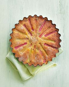 The flavours of rosemary and amaretti come together to make this beautifully light rhubarb cake with a herby orange glaze – serve with something creamy for afternoon tea. Delicious Magazine Recipes, Delicious Recipes, All You Need Is, Orange Glaze Recipes, Amaretti Biscuits, Rhubarb Cake, Food Tech, Think Food, Rhubarb Recipes