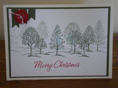 Christmas Lovely as a Tree by stamping chick - Cards and Paper Crafts at Splitcoaststampers