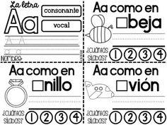 Libritos del Alfabeto {Alphabet Mini Books in Spanish}