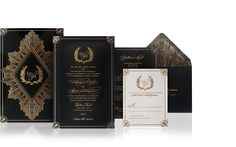 Art Deco Luxury wedding invitation