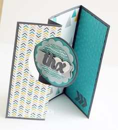 Stampin' Cards And Memories: Thinlits Card Dies, Yay!, Circle Card Thinlits Die, Moonlight DSP, Decorative Dots