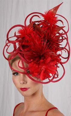 La représentation du chapeau rouge haute couture
