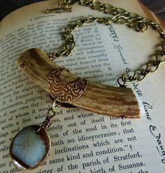 Reeds of Gray Jewelry on Facebook.  Deer antler jewelry