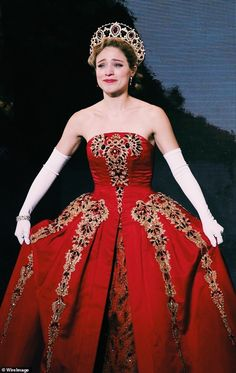 Stunning: The Broadway costume Tiffany was holding was designed by Tony winner Linda Cho. Christy is pictured wearing the gown during the opening night of Anastasia in 2017 Anastasia Costume, Anastasia Movie, Anastasia Broadway, Anastasia Musical, Anastasia Dress, Theatre Geek, Broadway Theatre, Musical Theatre, Musicals Broadway