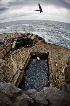 Red Bull Cliff Diving - Inis Mor, Ireland  www.kentdemond.com