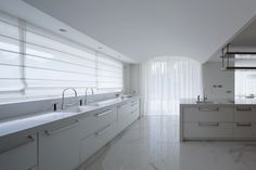 white quartz kitchen