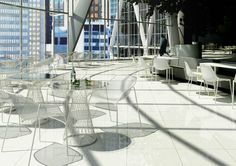 Bring the outdoors in With Emu seating and tables by creating light and airy café spaces.